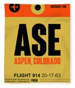 Ase Aspen Luggage Tag I Fleece Blanket