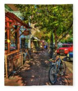 College Town Athens Georgia Downtown Uga Athens Georgia Art Fleece Blanket