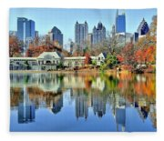 Atlanta Reflected Fleece Blanket