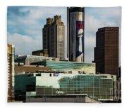 Atlanta Skyline 3 Fleece Blanket