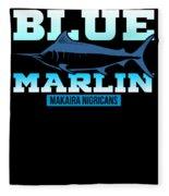 Atlantic Blue Marlin Makaira Nigricans Fleece Blanket