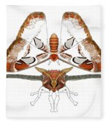 Atlas Moth2 Fleece Blanket