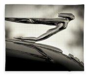 1936 Auburn 851 Sc Boattail Speedsterdster Hood Ornament Fleece Blanket