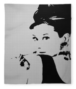 Audrey B W Fleece Blanket