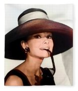 Audrey Hepburn Fleece Blanket
