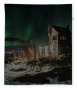 Aurora Borealis Over Harstad Fleece Blanket