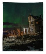 Aurora Over The Radio Station Fleece Blanket