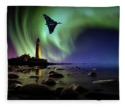 Auroral Splendour For The Vulcan Fleece Blanket