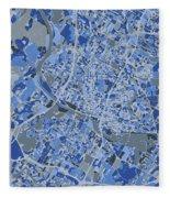 Austin Map Retro 5 Fleece Blanket