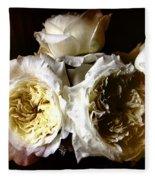 Austin Roses Notan Fleece Blanket