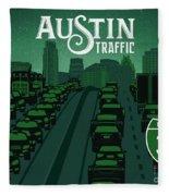 Austin Traffic Fleece Blanket