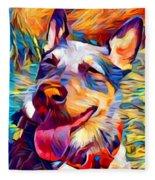 Australian Cattle Dog 2 Fleece Blanket