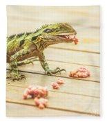 Australian Water Dragon Fleece Blanket