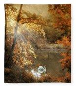 Autumn Afterglow Fleece Blanket