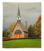 Autumn At Grand Pre Fleece Blanket