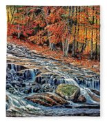 Autumn Cascade Fleece Blanket