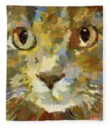 Autumn Cat Fleece Blanket