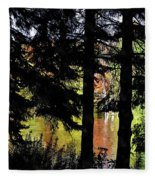 Autumn Colors At The Spa  Fleece Blanket