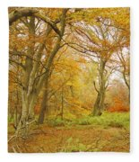 Autumn Colours Fleece Blanket