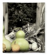 Autumn Farm Stand Fleece Blanket