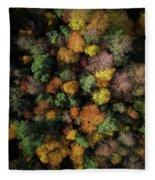 Autumn Forest - Aerial Photography Fleece Blanket