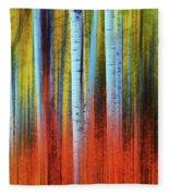 Autumn In Color Fleece Blanket by John De Bord