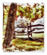 Autumn In Doughton Ap Fleece Blanket
