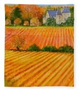 Autumn In French Vineyards Fleece Blanket