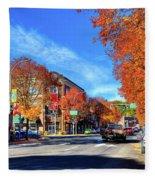 Autumn In Pullman Fleece Blanket
