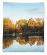 Autumn Mirror - Silky Wavelets Caused By Ducks Fleece Blanket