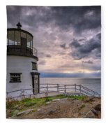 Autumn Morning At Owls Head Fleece Blanket
