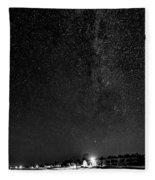 Autumn Night - Sauble Beach - Two Galaxies Bw Fleece Blanket