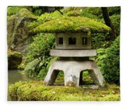 Autumn, Pagoda, Japanese Garden Fleece Blanket