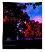 Autumn Trip Fleece Blanket by Jeff Iverson