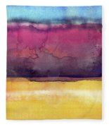 Awakened 6- Art By Linda Woods Fleece Blanket