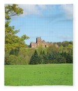 Ayton Castle From South, Berwickshire Fleece Blanket
