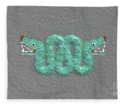 Aztec Serpent Fleece Blanket
