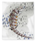 B Is For Blue Tongue Lizard Fleece Blanket