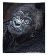 Baby Gorilla Fleece Blanket
