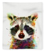 Baby Raccoon Fleece Blanket
