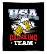 Bachelor Party Usa Drinking Team Beer Party Cheers Gift Fleece Blanket
