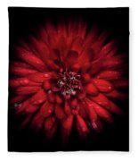Backyard Flowers 45 Color Flow Version Fleece Blanket by Brian Carson
