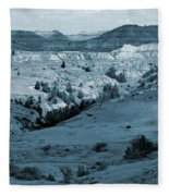 Badlands Shadows And Sunlight Fleece Blanket