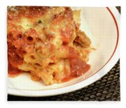 Baked Ziti Serving 2 Fleece Blanket