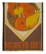 Balanced Diet For The Expectant Mother Inquire At The Health Bureau Fleece Blanket