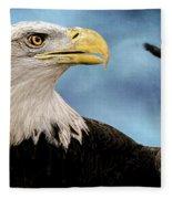 Bald Eagle And Fledgling  Fleece Blanket