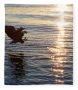 Bald Eagle At Sunset Fleece Blanket