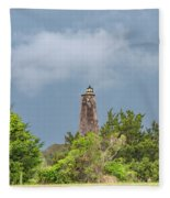 Bald Head Island Lighthouse Fleece Blanket
