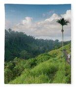 Bali Pathway Fleece Blanket