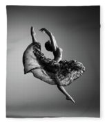 Ballerina Jumping Fleece Blanket